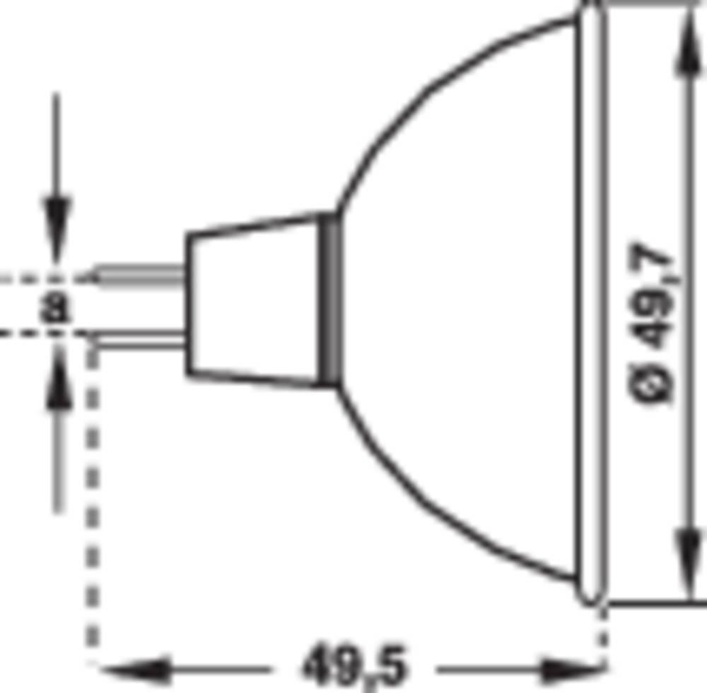 Halogenska žarnica 49.5 mm Philips Lighting 12 V GZ6.35 energ. razred: C 1 kos