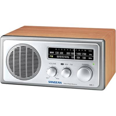 Sangean WR-1 Walnuss FM Table top radio AM, FM Wood