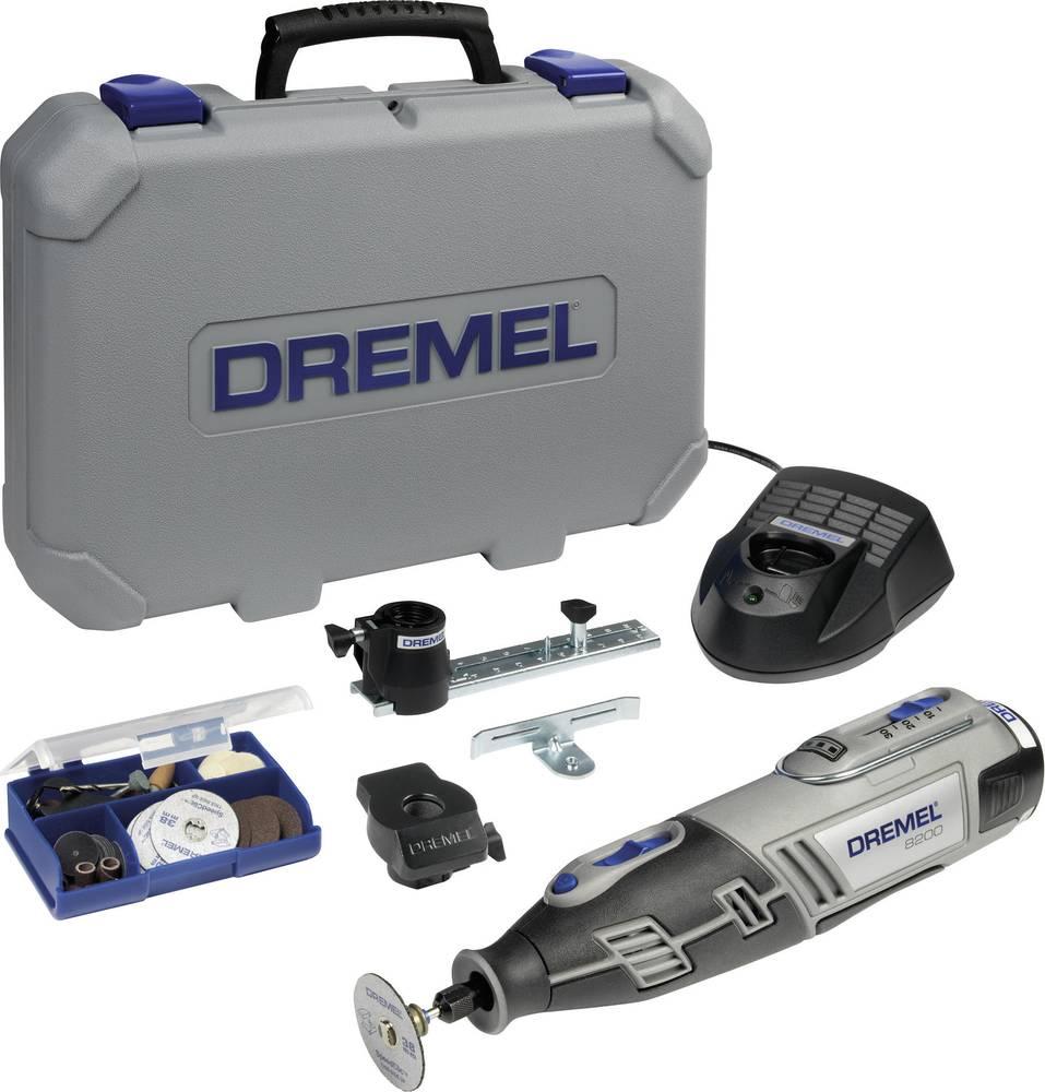 Akumulatorsko večnamensko orodje, vklj. akumulator, vklj. kovček, vklj. dodatna oprema 50-delni komplet 10.8 V 1.5 Ah Dremel 820