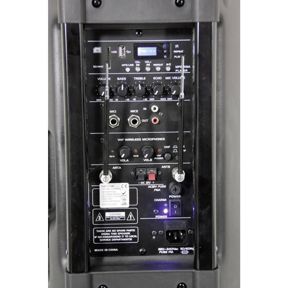Mobilni PA zvučnik Ibiza Sound Port15VHF, 38 cm 15 Zoll, Bluetooth