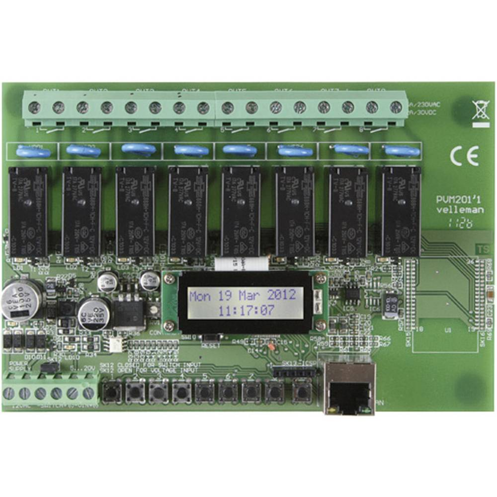 Relay Card Component Velleman Vm201 12 V Ac From Switch