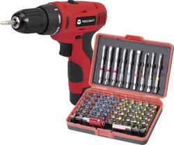 Batteri boremaskine TOOLCRAFT DD 10.8 10.8 V 1.3 Ah Litium inkl. batteri, Kuffert, inkl. tilbehør