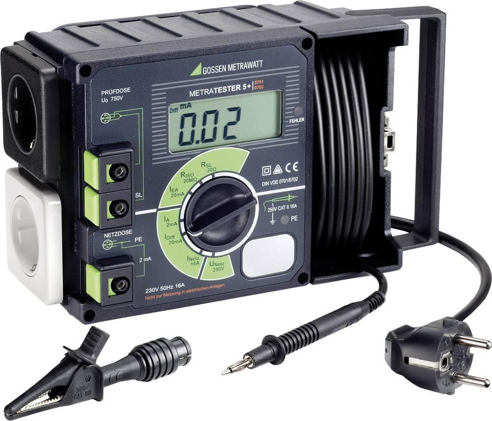 Testirna naprava Gossen Metrawatt METRATESTER 5+ DIN VDE 0701 del 1 - 240, DIN VDE 0702.