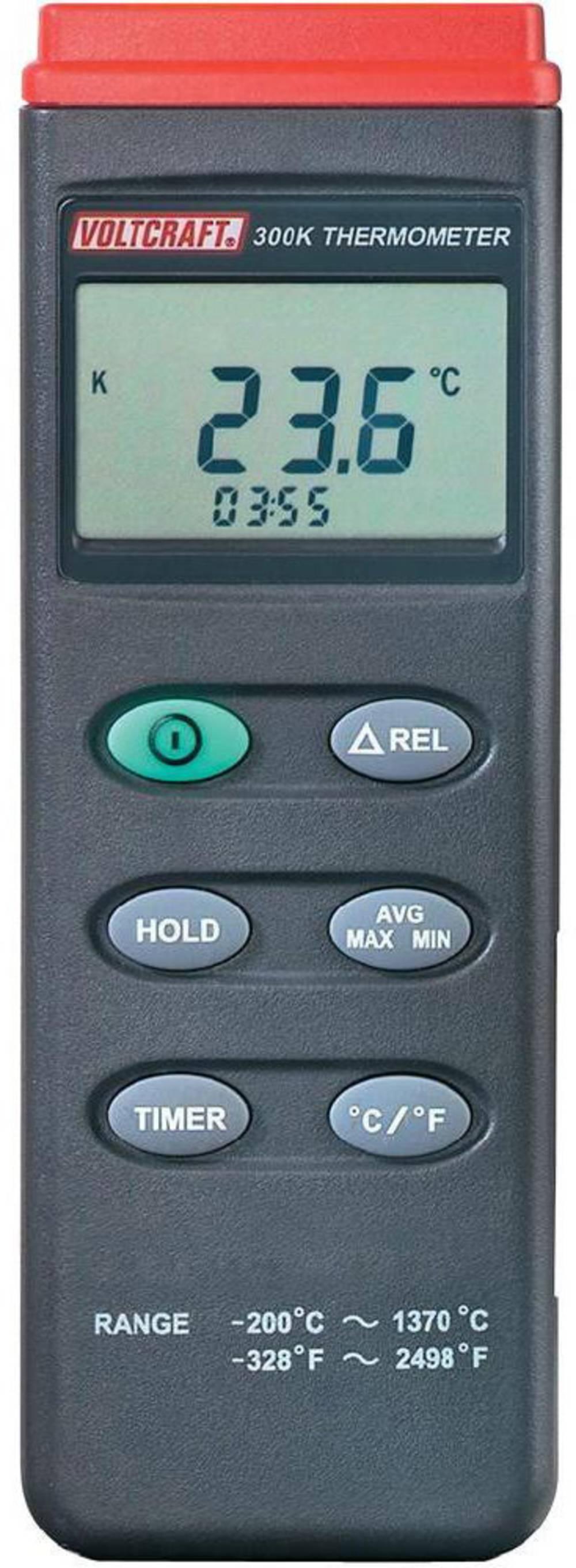 Merilnik temperature VOLTCRAFT K204 -200 do +1370 °C tip senzorja K s funkcijo zapisovanja podatkov