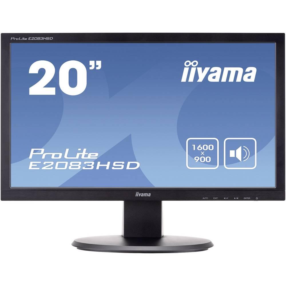 LED ekran 49.5 cm (19.5 Zoll) Iiyama E2083HSD 1600 x 900 Pixel 16:9 5 ms DVI, VGA, slušalice (3.5 mm utikač) TN LED