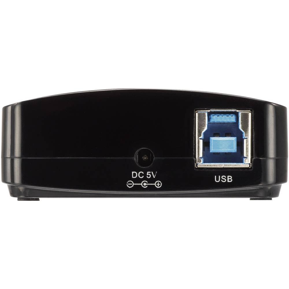 4-portni USB 3.0 hub Renkforce crni