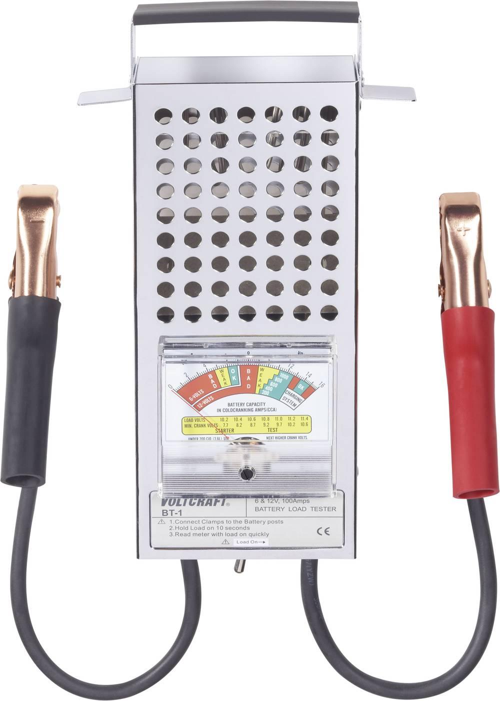 VOLTCRAFT® BT-1 analogni tester svinčevih akumulatorjev za 6 V in 12 V baterije