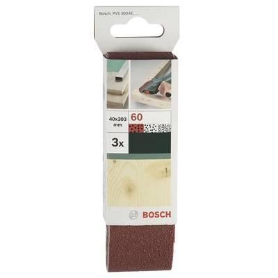 Bosch Accessories 2609256183 Sandpaper belt Grit size 80 (L x W) 303 mm x 40 mm 3 pc(s)