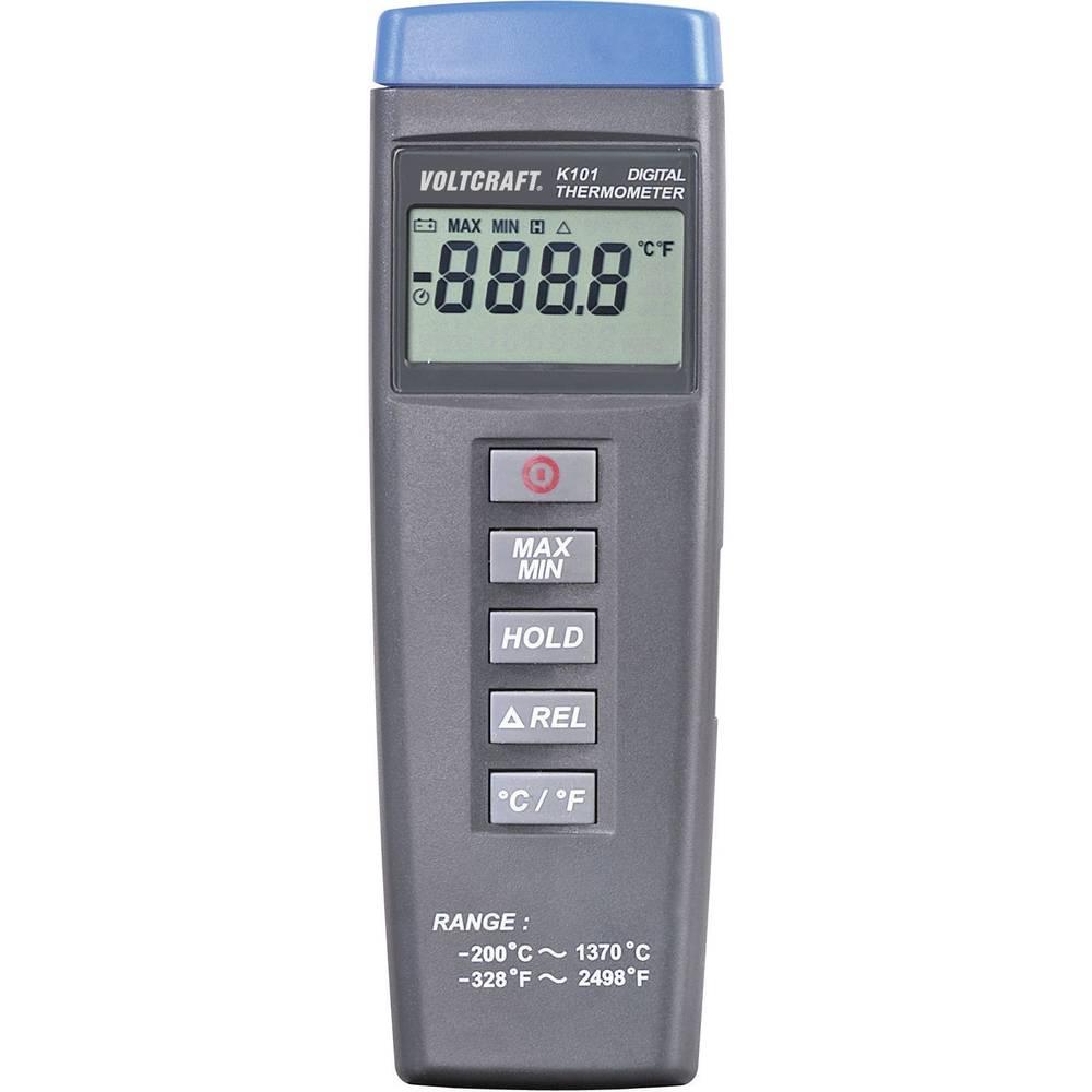 Mjerač temperature VOLTCRAFT K101 -200 do +1370 °C senzor tipa K kalibriran prema: tvorničkom standardu