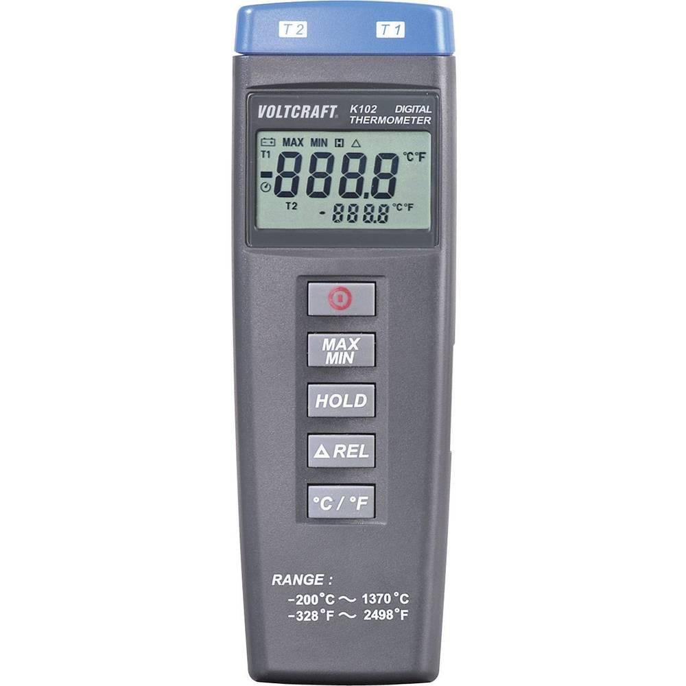 Mjerač temperature VOLTCRAFT K102 -200 do +1370 °C senzor tipa K kalibriran prema: tvorničkom standardu