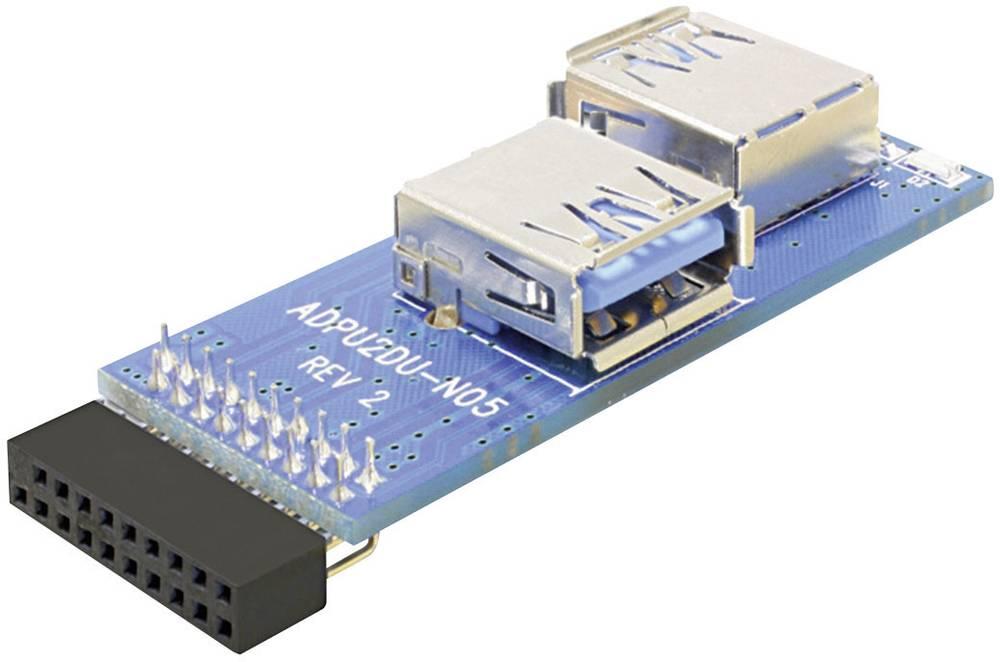 USB 2.0 vmesnik [1x USB 3.0 vtič 19 pin interno. - 2 x USB 3.0 vtič] Blue Delock 41846