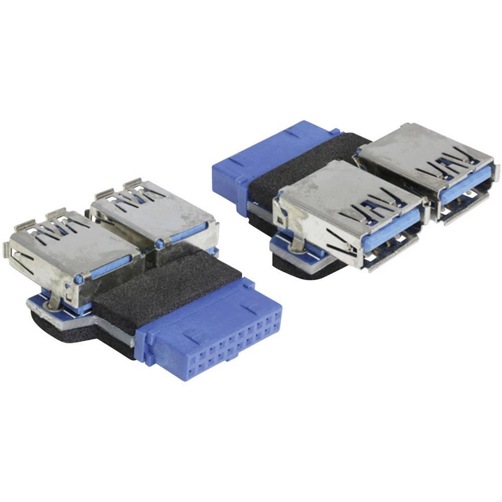 USB 3.0 adapter [1x USB 3.0 utikač intern 19pol. - 2x USB 3.0 utikač A] plavi Delock