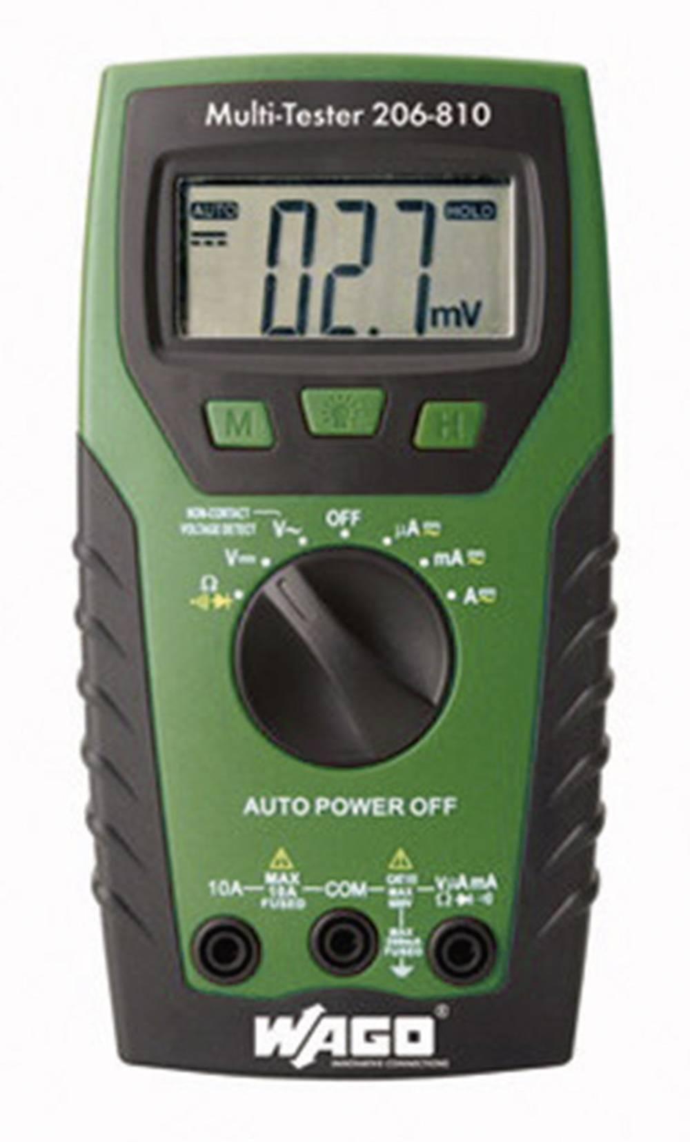 Ročni multimeter, digitalni WAGO 206-810 kalibracija narejena po: delovnih standardih, CAT IV 600 V število znakov na zaslonu: 2