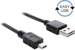 USB 2.0 Tilslutningskabel Delock [1x USB 2.0 stik A - 1x USB 2.0 stik Mini-B] 5 m Sort