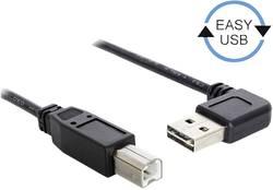 USB 2.0 Anslutningskabel Delock [1x USB 2.0 A hane - 1x USB 2.0 B hane] guldpläterad kontakt, UL-certifierad 1 m Svart