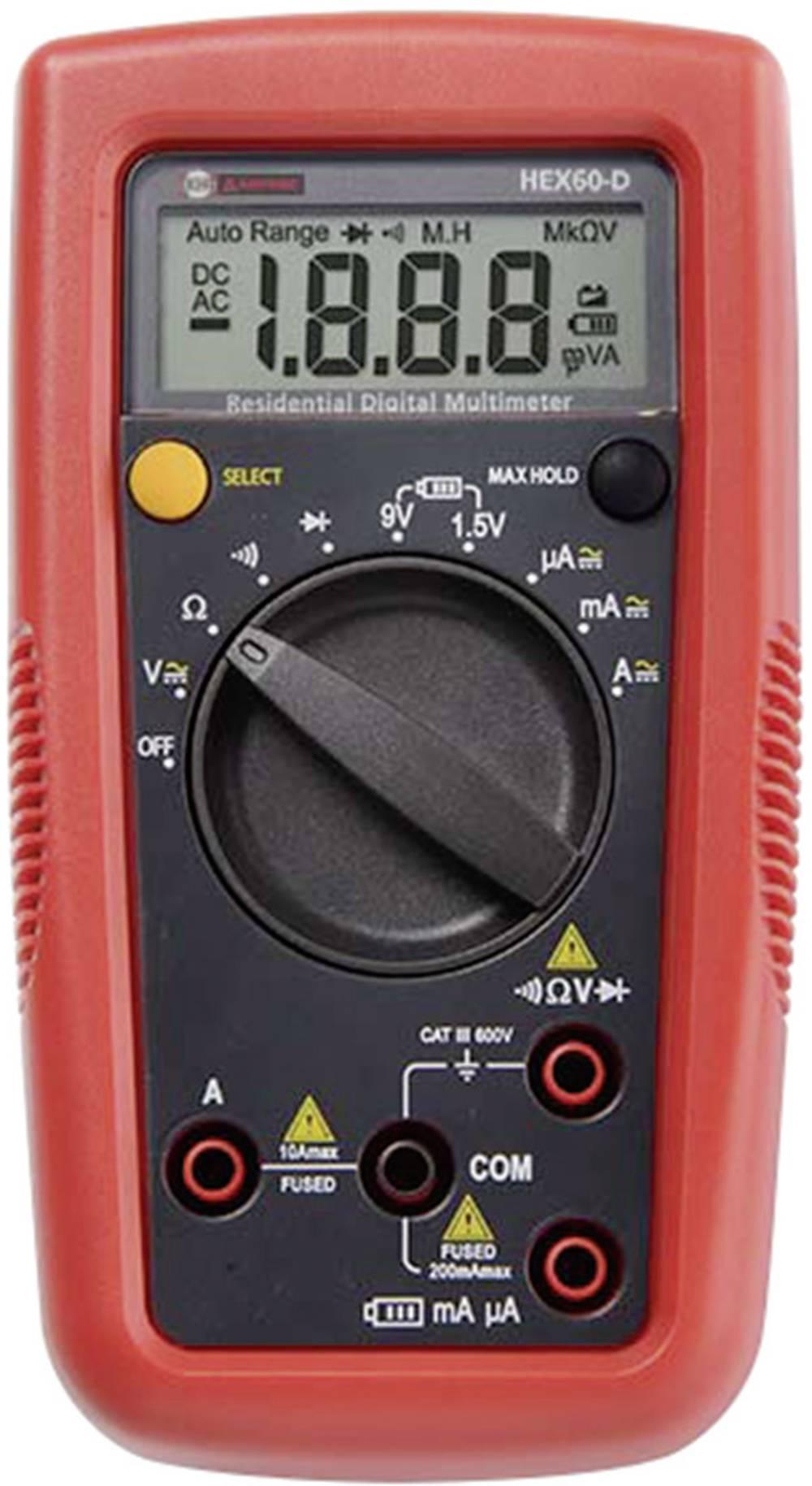 Ročni multimeter, digitalni Beha Amprobe Hexagon 60 kalibracija narejena po: delovnih standardih, CAT III 600 V število znakov n