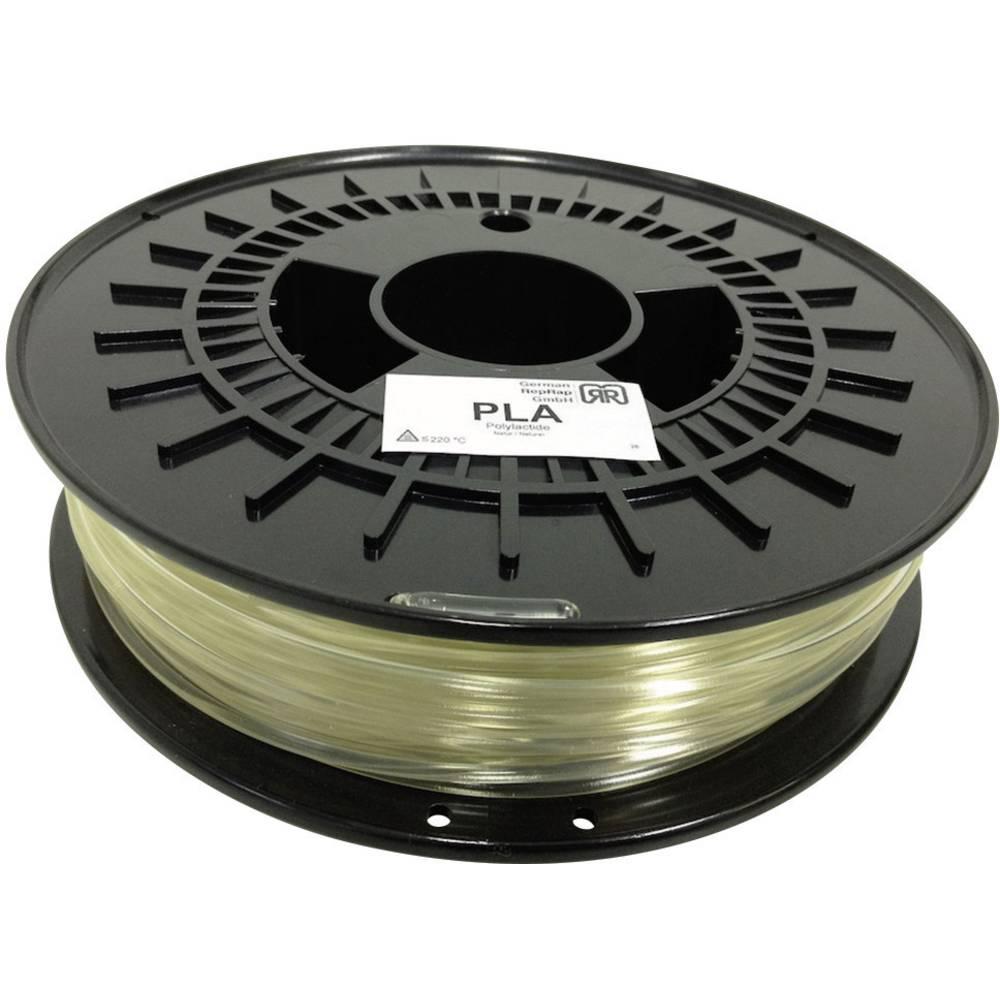 Nitka iz umetne mase za 3D-tiskalnik RepRap 100248 PLA plastični 3 mm natur 750 g German RepRap