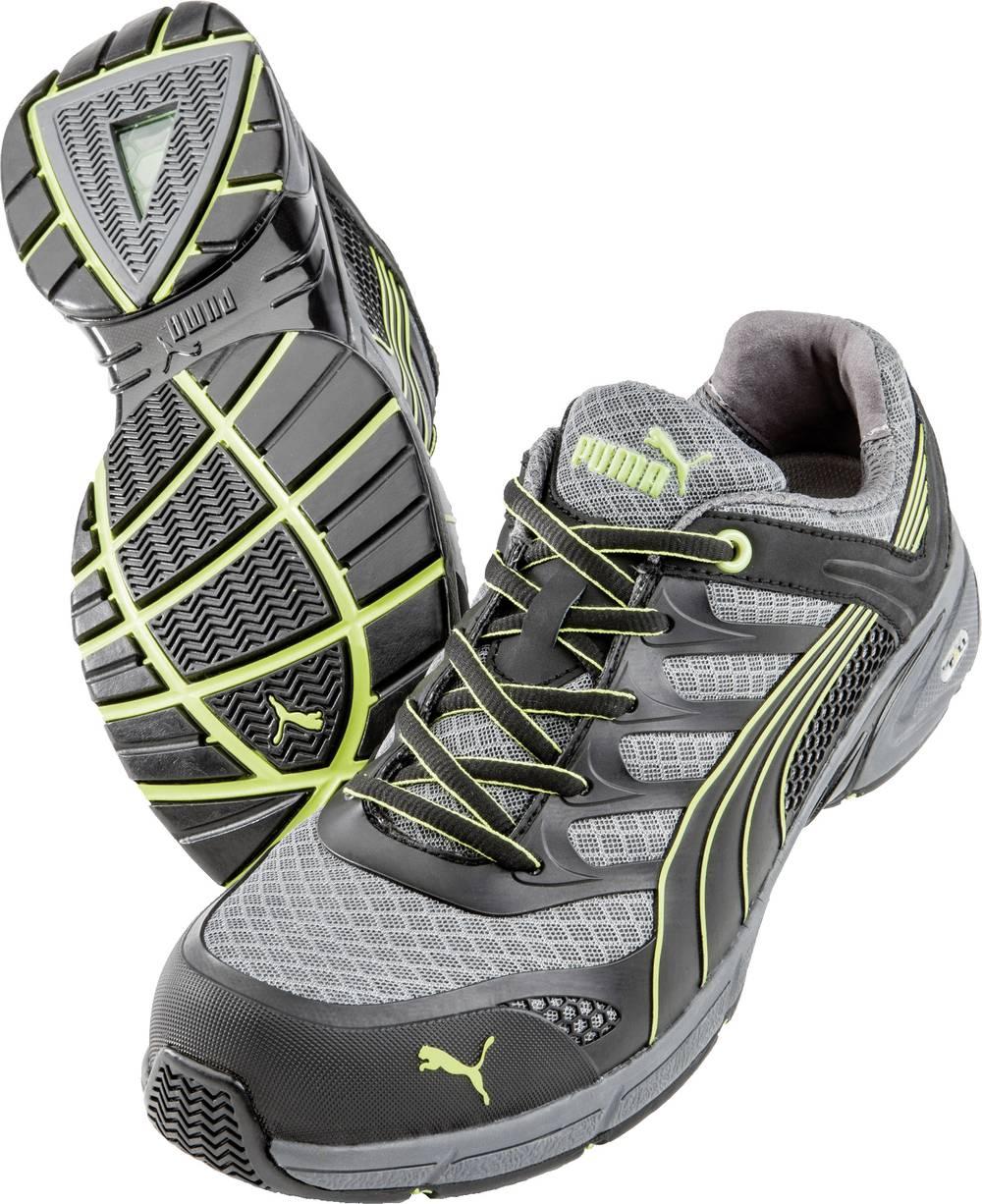 PUMA Safety 642520 Varovalni nizki čevlji Fuse Motion Green Men Low HRO SRA, velikost=39 črni, sivi, rumeni