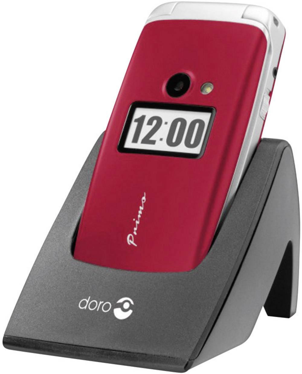 Doro Primo 413 Handy Mobilni telefon za starejše,velike tipke rdeča