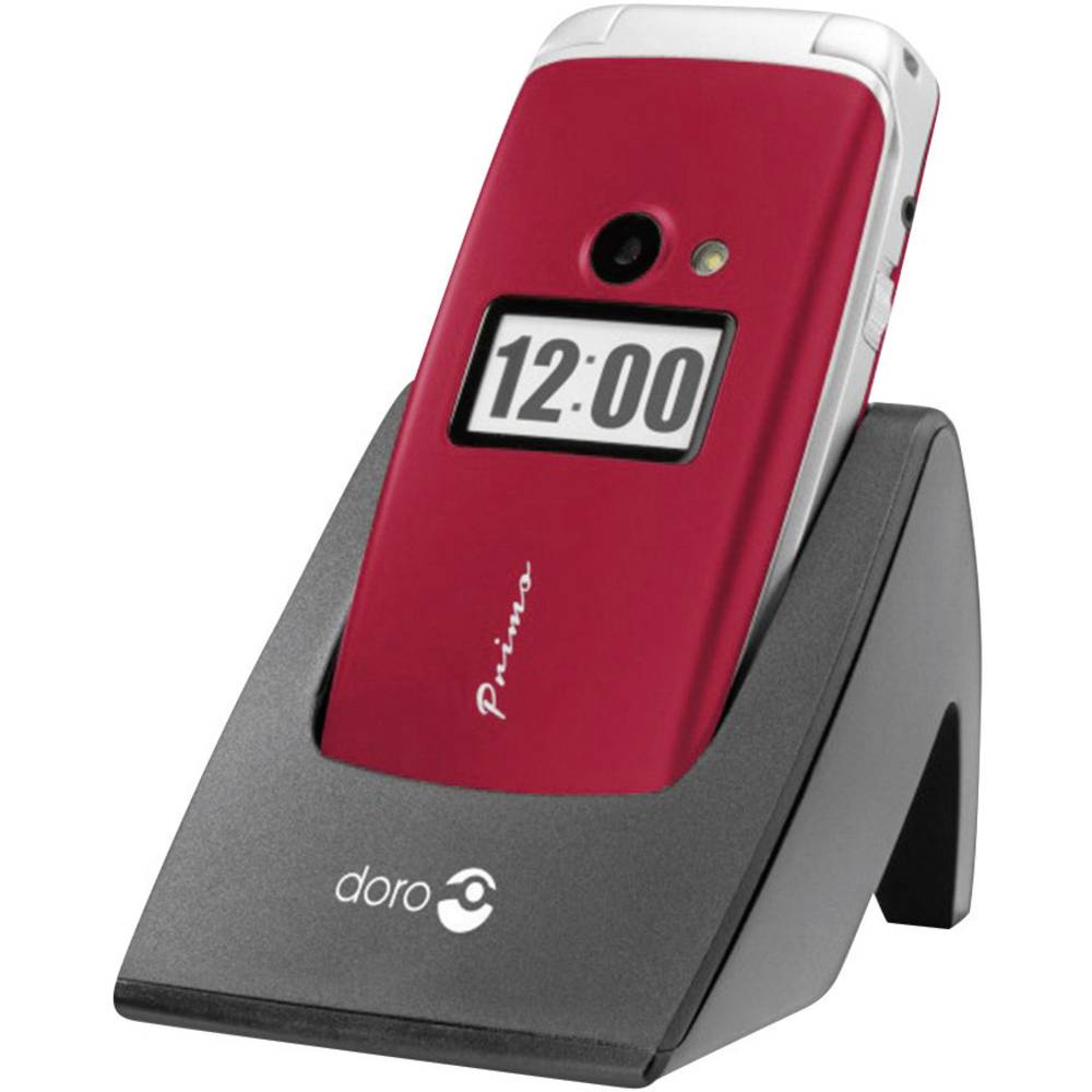 Mobitel s velikim tipkama za starije osobe Primo 413 Doro crvena