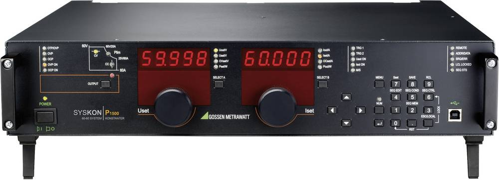Nastavljiv laboratorijski napajalnik Gossen Metrawatt SYSKON P3000 0 - 60 V/DC 0 - 120 A 3000 W USB, RS-232, programljiv