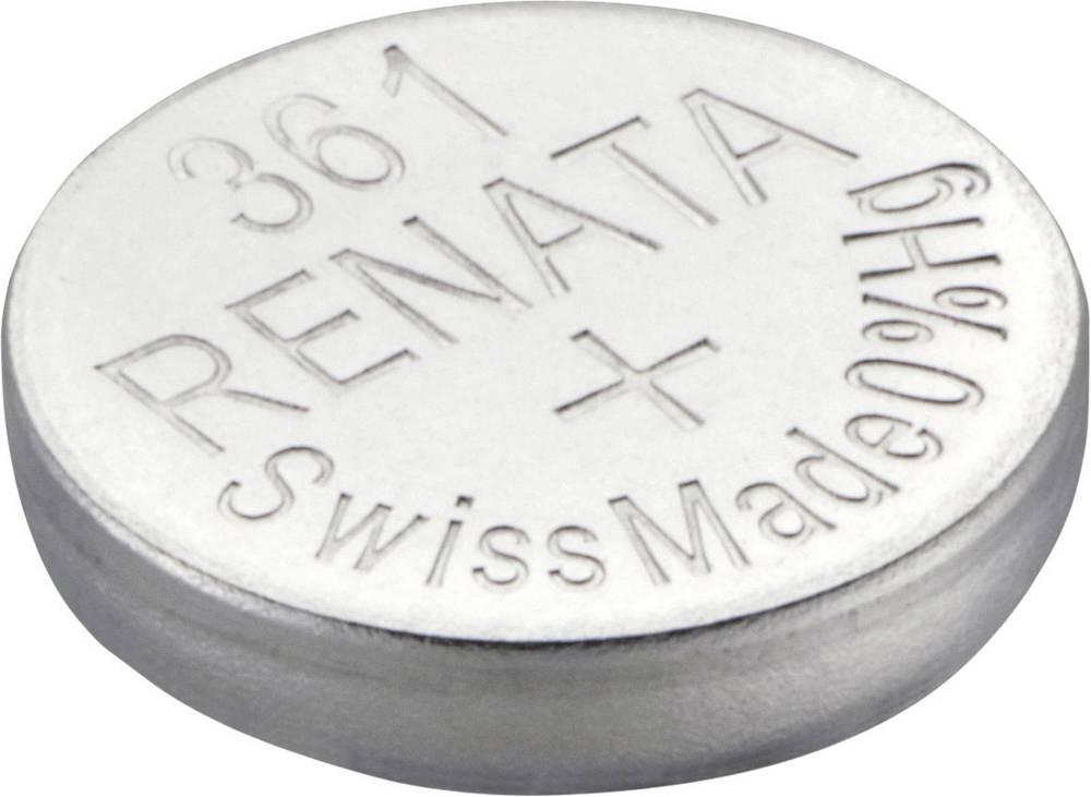 Gumbna baterija 361 srebrovo-oksidna Renata SR58 primerna za visoke tokove 24 mAh 1.55 V, 1 kos