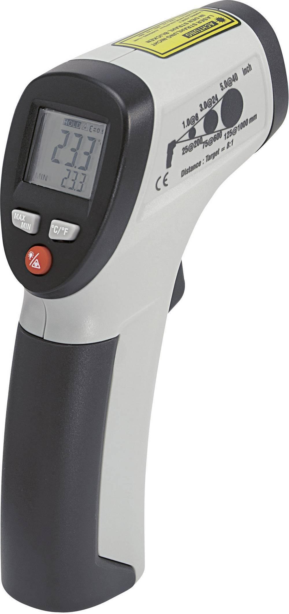 Infracrveni termometar VOLTCRAFT IR 260-8S optika 8:1 -30 do +260 °C pirometar kalibriran prema: tvorničkom standardu