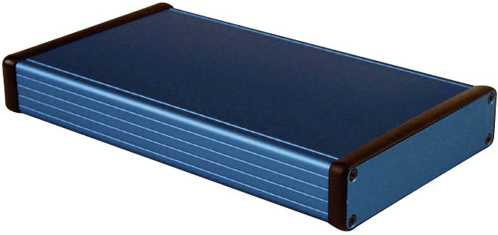 Universalkabinet 220 x 125 x 30.5 Aluminium Blå Hammond Electronics 1455P2201BU 1 stk