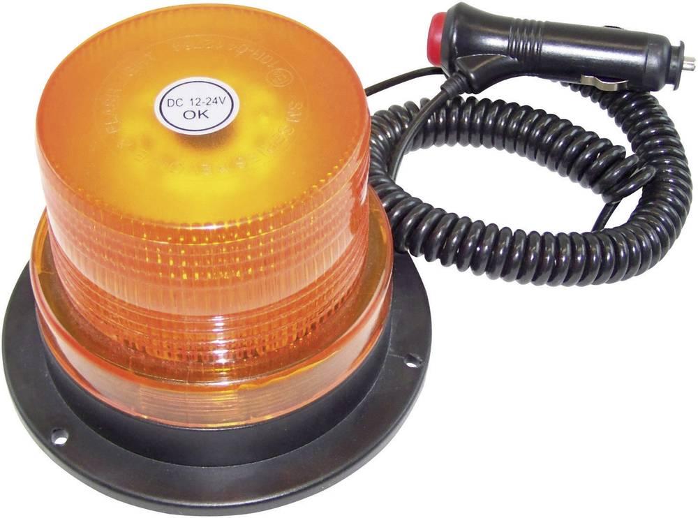 LED vrtljiva luč 12/24 V oranžna, magnetna montaža 20200