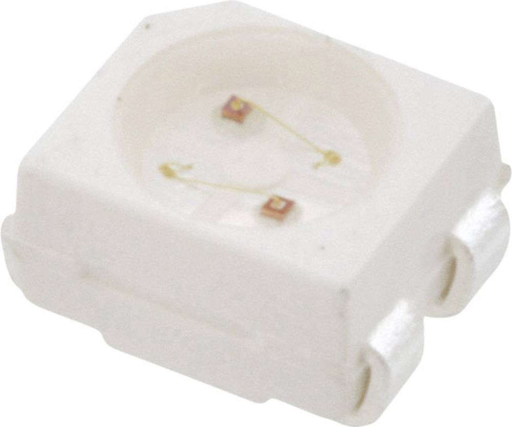 SMD LED Broadcom HSMF-A206-A00J1 PLCC4 20 mcd, 16 mcd 120 ° Grøn, Gul