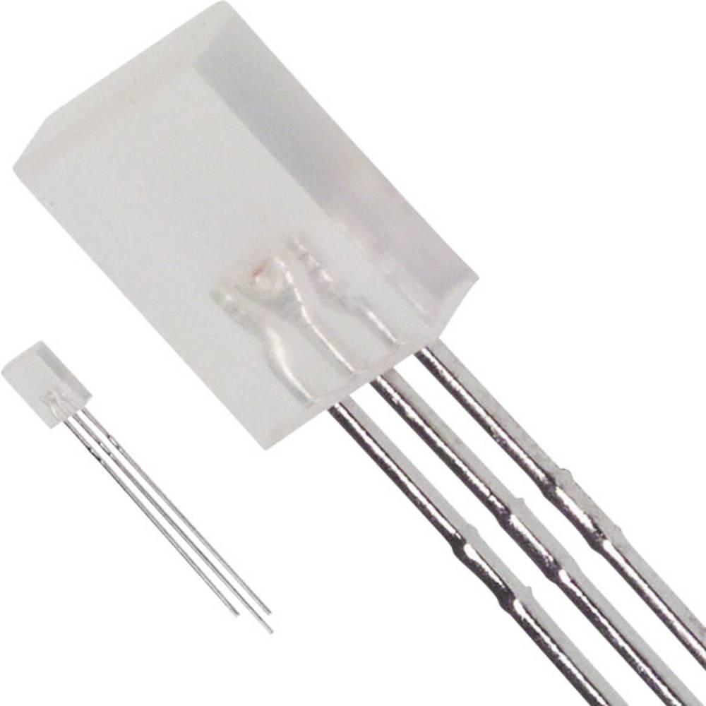 LED med ledninger LUMEX 2 x 5 mm 10 mcd, 10 mcd 90 ° 30 mA, 25 mA 2.2 V Rød, Grøn
