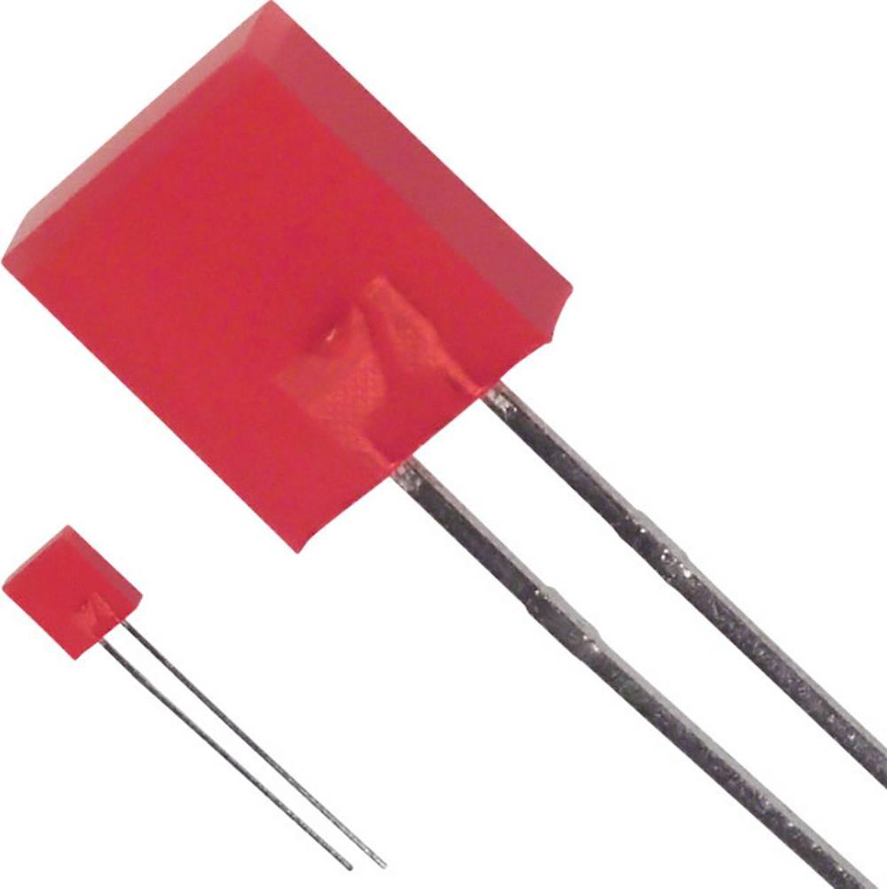 LED med ledninger LUMEX 7 x 2.3 mm 9 mcd 80 ° 30 mA 2 V Rød