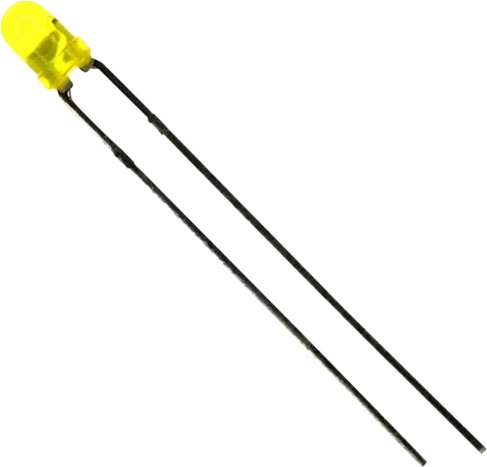 LED med ledninger LUMEX 3 mm 6 mcd 60 ° 12 mA 12 V Gul