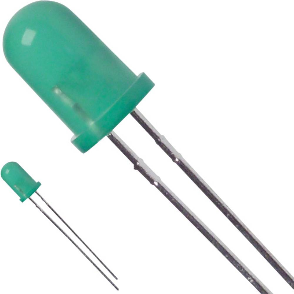 LED med ledninger LUMEX 5 mm 20 mcd 60 ° 12 mA 5 V Grøn