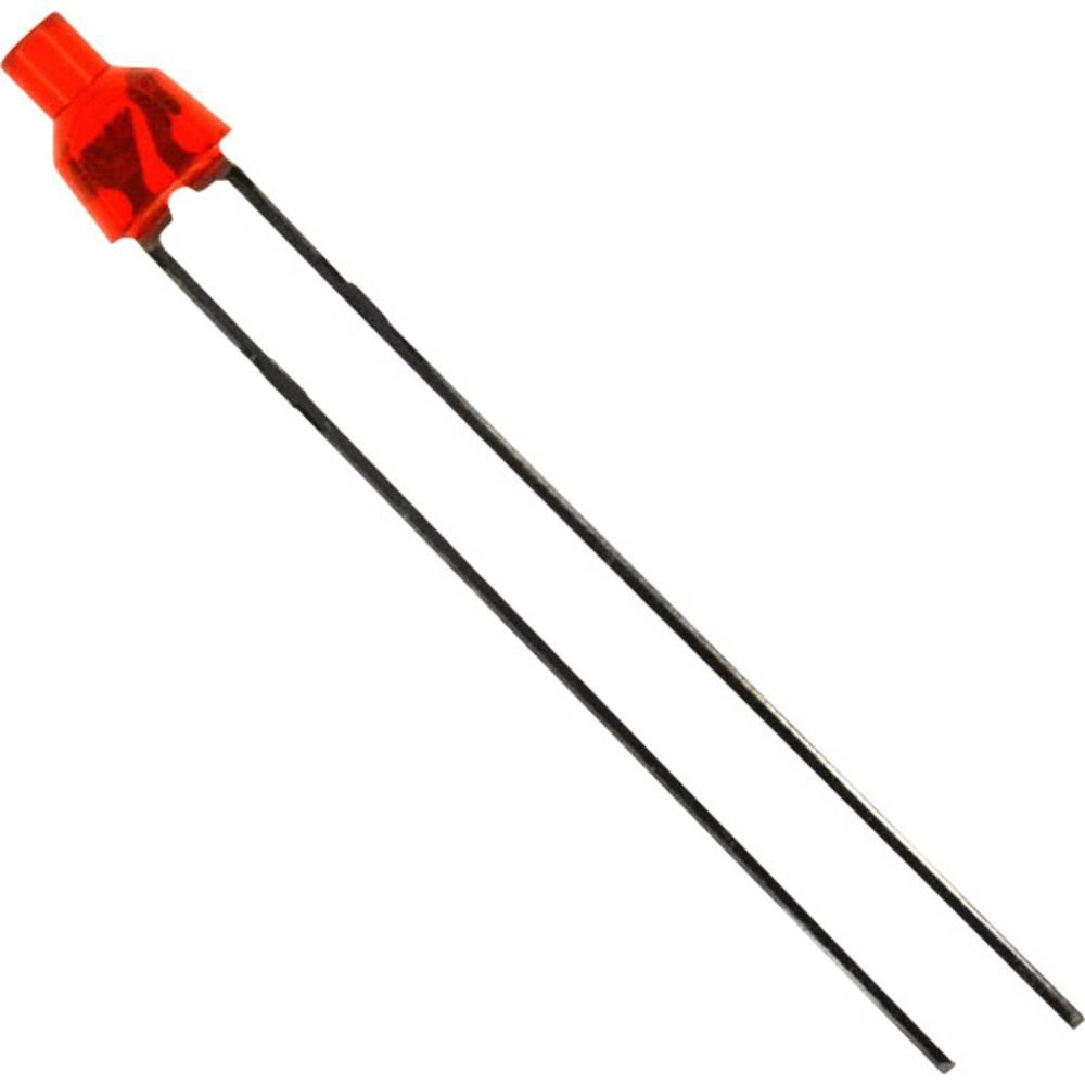 LED med ledninger LUMEX 2 mm 25 mcd 70 ° 30 mA 2 V Rød