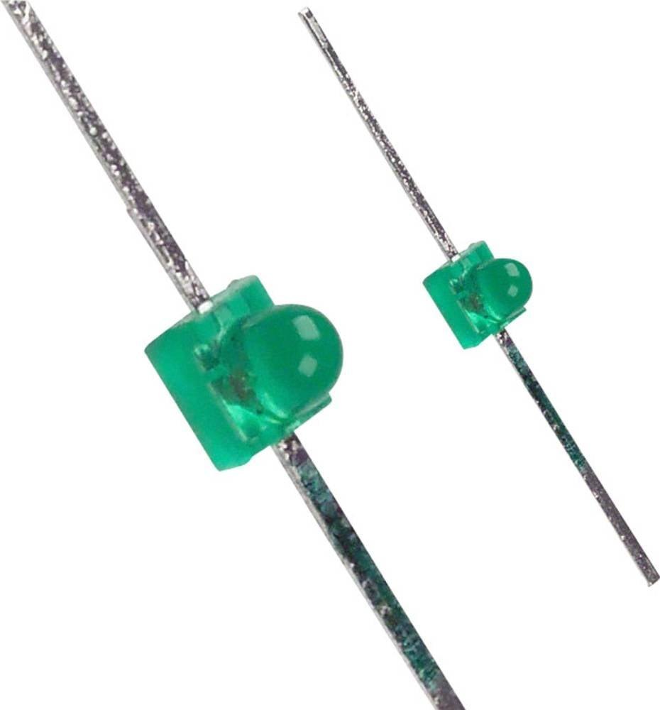 Ožičena LED dioda, zelena, okrogla, 1.9 mm 12 mcd 25 ° 2.1 V LUMEX SSL-LXA228GD