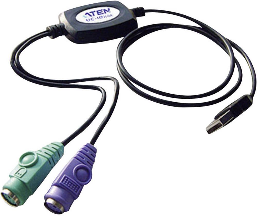 Priključni kabel za PS/2 / USB tipkovnico/miško [2x PS/2 vtičnica - 1x USB 1.1 vtič A] 0.90 m črne barve
