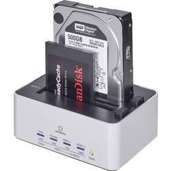 USB 3.0 Harddisk-dockingstation Renkforce rf-docking-07 SATA 2 porte med Clone-funktion