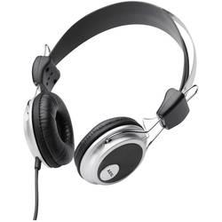 Hovedtelefoner On-ear AEG KH 4220 kabelbundet Sort, Sølv