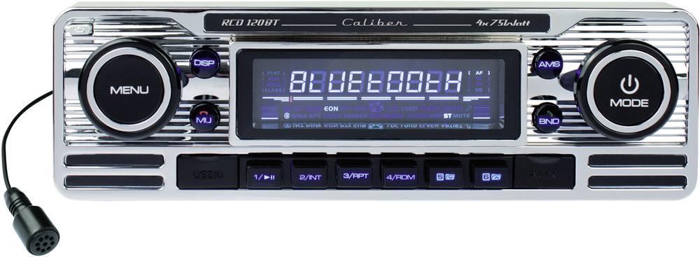Bilradio Caliber Audio Technology RCD-120BT Bluetooth Retro design, Håndfrit Bluetooth®-system