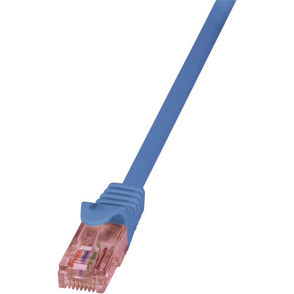 RJ45 omrežni kabel CAT 6 U/UTP [1x RJ45 konektor - 1x RJ45 konektor] 0,50 m modra LogiLink CQ2026U