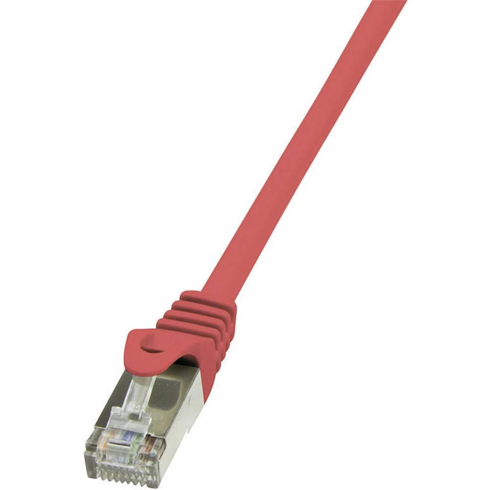 RJ45 mrežni kabel CAT 5e SF/UTP [1x RJ45 utikač - 1x RJ45 utikač] 1 m crveni zaštićeni LogiLink CP1034D
