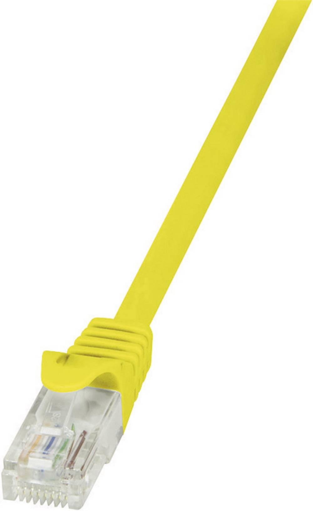 RJ45 mrežni kabel CAT 5e U/UTP [1x RJ45 utikač - 1x RJ45 utikač] 0.50 m žuti zaštićeni LogiLink CP1027U