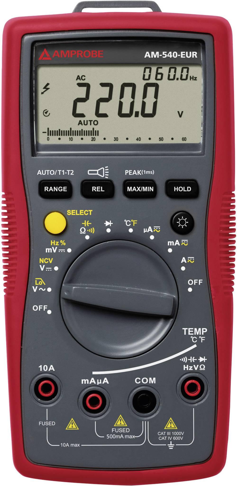 Ročni multimeter, digitalni Beha Amprobe AM-540-EUR kalibracija narejena po: delovnih standardih, CAT III 1000 V, CAT IV 600 V š