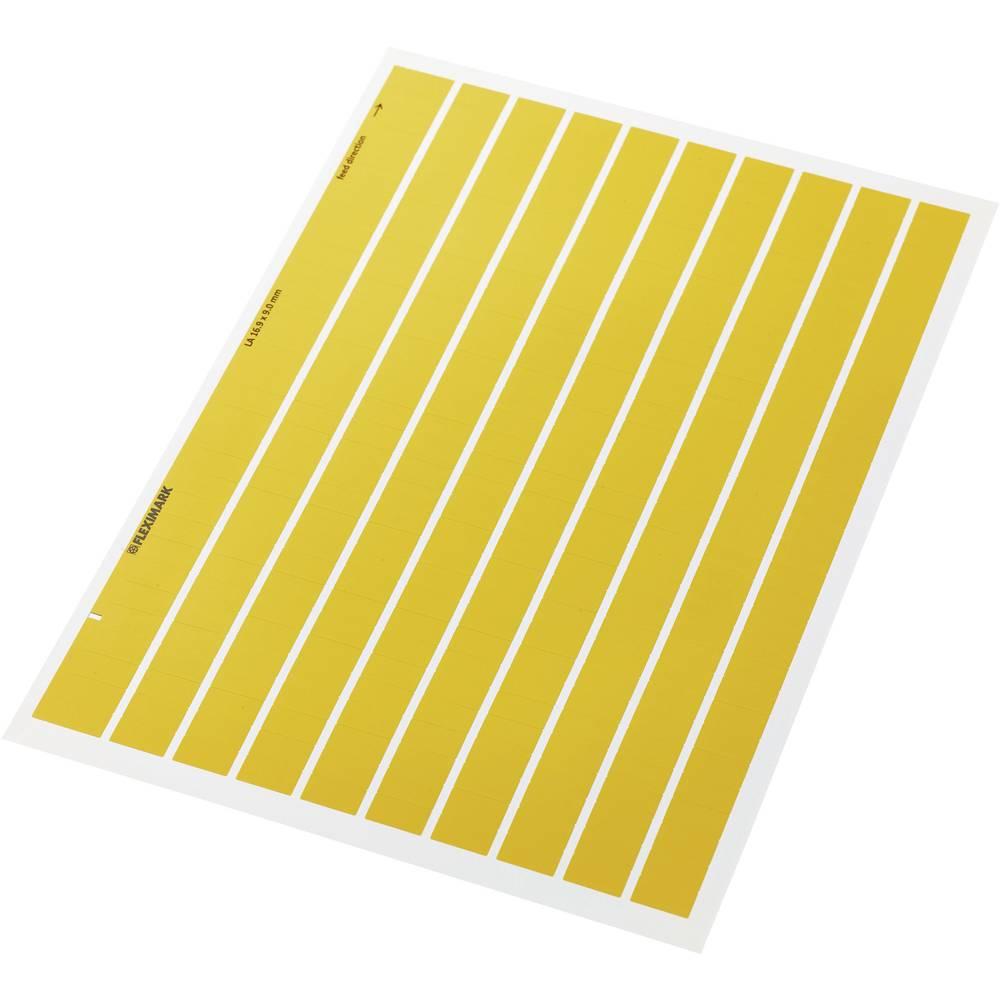 Etikete za označevanje kablov Fleximark 15 x 6 mm označevalno polje: rumene barve LappKabel 83256204 LA 15-6 YE Anzahl Etiketten