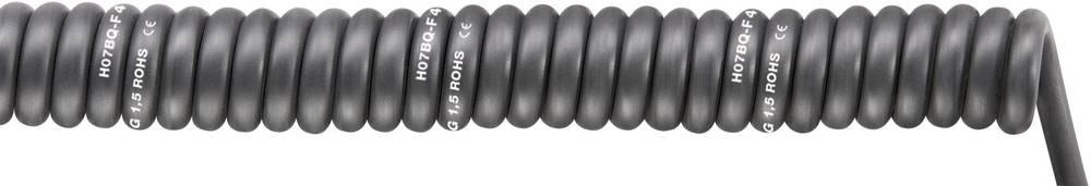 Spiralni kabel SPIRAL H07BQ-F 1000 mm / 3000 mm 4 x 1.5 mm črne barve LappKabel 70002755 1 kos
