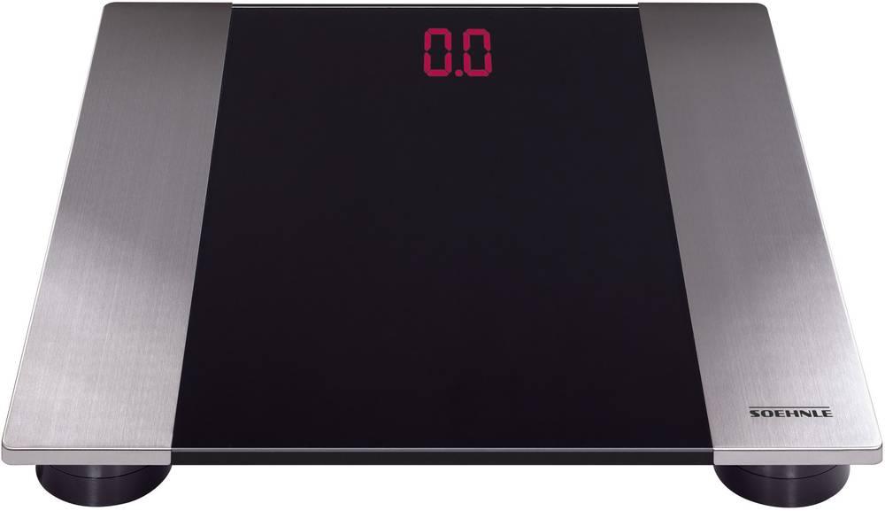Digitalna osebna tehtnica Soehnle Linea območje tehtanja (maks.)=150 kg legirano jeklo, črna