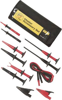 Säkerhets-mätledning-Set Fluke TLK-225-1 1.5 m Svart, Röd