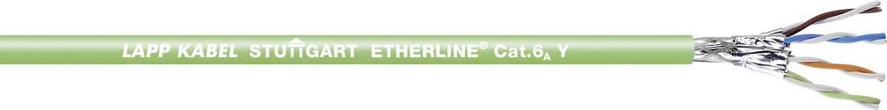 Omrežni kabel CAT 6a S/FTP 4 x 2 x 0.50 mm zelene barve LappKabel 2170465 100 m