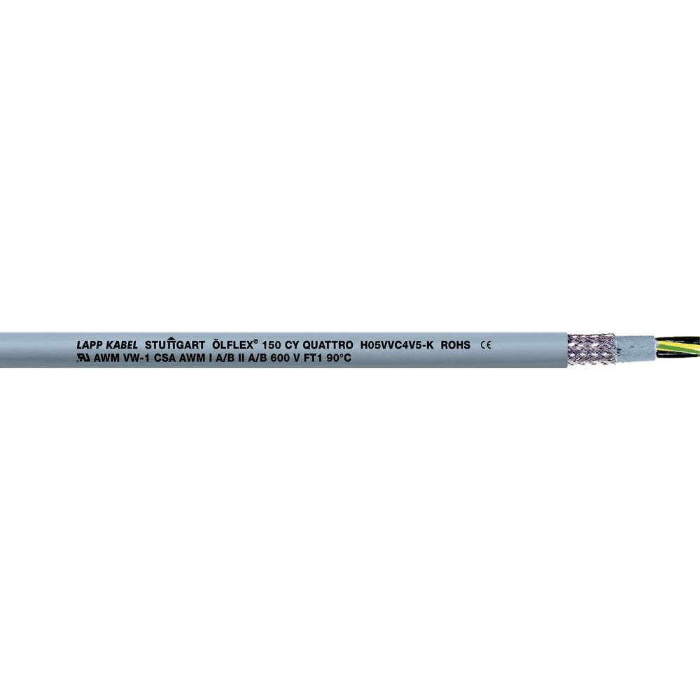 Krmilni kabel ÖLFLEX® 150 CY 7 G 1 mm sive barve LappKabel 0015707 75 m
